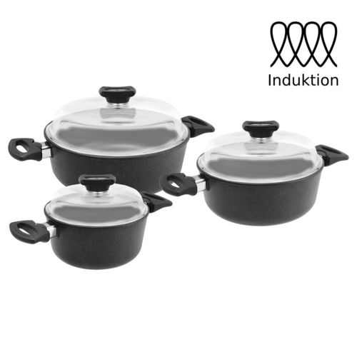 TREND Royal Alugus Topf-Set 3-tlg. Induktion geeignet / Made in Germany